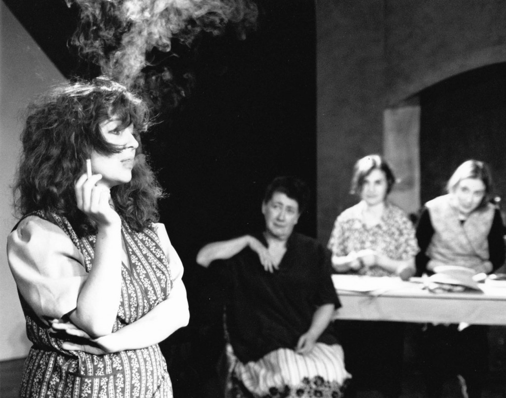 Pregnant and smoking: Maggie in 'Dancing at Lughnasa', Stadsschouwburg Amsterdam 1998